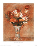 Les Tulipe Flower Vase Posters by Pierre-Auguste Renoir