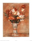 Les Tulipe Flower Vase Posters by Pierre-Auguste Renoir