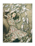 Alice & Pack of Cards Posters av Arthur Rackham