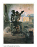 La le&#231;on de banjo Affiche par Henry Ossawa Tanner