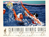 Olympic Water Polo, c.1996 Atlanta Posters by Hiro Yamagata