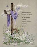 Pregunte a Jesus cruz Posters