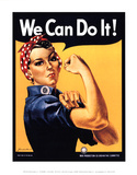 Rosie the Riveter We Can Do It Prints by J. Howard Miller