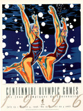 Olympic Synchronized Swimming, c.1996 Atlanta Posters by Hiro Yamagata