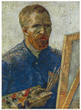Self Portrait in Front of Easel Prints by Vincent van Gogh