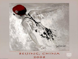 Swimming Beijing 2008 Olympics Poster by Susan Sommer-Luarca