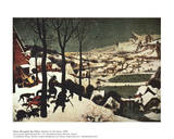 Winter/Hunters in the Snow Kunstdrucke von Pieter Bruegel the Elder