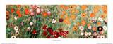 Flowery Garden Detail Print by Gustav Klimt