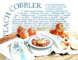 Peach Cobbler Recipe Food Pie Dessert Posters