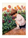 Tulip Time Art par Jessie Willcox-Smith