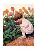 Tulip Time Art by Jessie Willcox-Smith