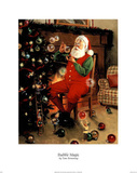 Santa (Decorating Tree) Posters