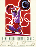 Olympic Weightlifting, c.1996 Atlanta Prints by Hiro Yamagata