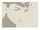 Audrey Hepburn, efecto negativo de foto Pósters
