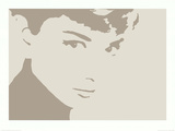 Audrey Hepburn Photo Negative Effect Posters
