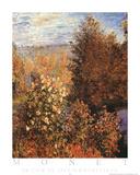 Un Coin du Jardin a Montgeron Posters par Claude Monet
