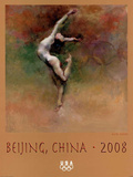 Olympic Dreams Gymnast Beijing 2008 Posters by Hua Chen