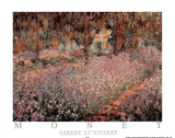 The Artist's Garden At Giverny, c.1900 Poster por Claude Monet