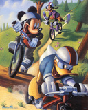 Mickey Mouse and Friends Biking Photo