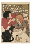 Compagnie Francaise des Chocolats Poster von Théophile Alexandre Steinlen