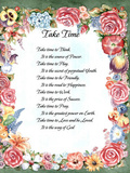 Take Time (Prayer) Poster
