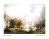 View of the Rocky Mountains Posters by Albert Bierstadt