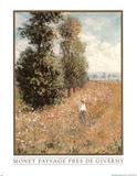 Paysage Pres De Giverny Claude Monet Poster