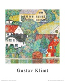 Houses at Unterach Print by Gustav Klimt