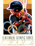 Olympic Softball, c.1996 Atlanta Print by Hiro Yamagata