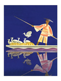 Birds and Boatman Poster by Frank Mcintosh