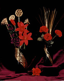 Gold Red Purple Seeds (Still Life) Prints