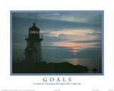 Goals A Journey of a Thousand Miles Begins with a Single Step Lighthouse Print