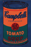Colored Campbell's Soup Can, c.1965 Blue & Orange Poster by Andy Warhol