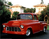 1956 Red Chevy Pickup Truck Posters by Greg Smith
