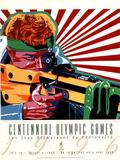 Olympic Shooting, c.1996 Atlanta Poster by Hiro Yamagata