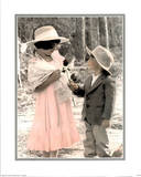 Boy &amp; Girl Rose Prints by Kim Anderson