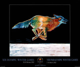 Wolf Salt Lake City 2002 Olympics Posters by John Nieto