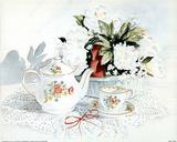 Camelias & Tea (Still Life) Posters