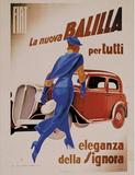 Fiat Balilla, c.1934 Affiches par Marcello Dudovich