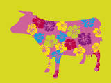 Blossom Cow Posters by Lyonel Maillot