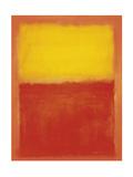 Naranja y amarillo Lámina por Mark Rothko