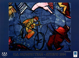 U.S. Olympic Team Athens 2004 Cyclist Poster by Cristobal Gabarron