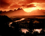 Grand Canyon (Snake River, Sunset) Posters