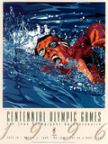 Centennial Olympic Games Swimming Atlanta, c.1996 Posters