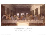 La última cena (Last Supper) Lámina por Leonardo da Vinci