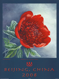 Portrait of a Chinese Peony Beijing 2008 Olympics Affiches par Jane Seymour