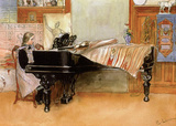 Skaloma Playing Scales Prints by Carl Larsson