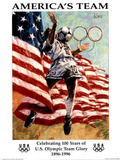 America's Team Celebrating 100 Years Olympics Posters by Aldo Luongo