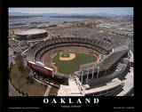 Oakland Athletics Stadium Sports Posters par Mike Smith
