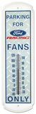 Parking for Ford Racing Fans Only Indoor/Outdoor Thermometer Tin Sign